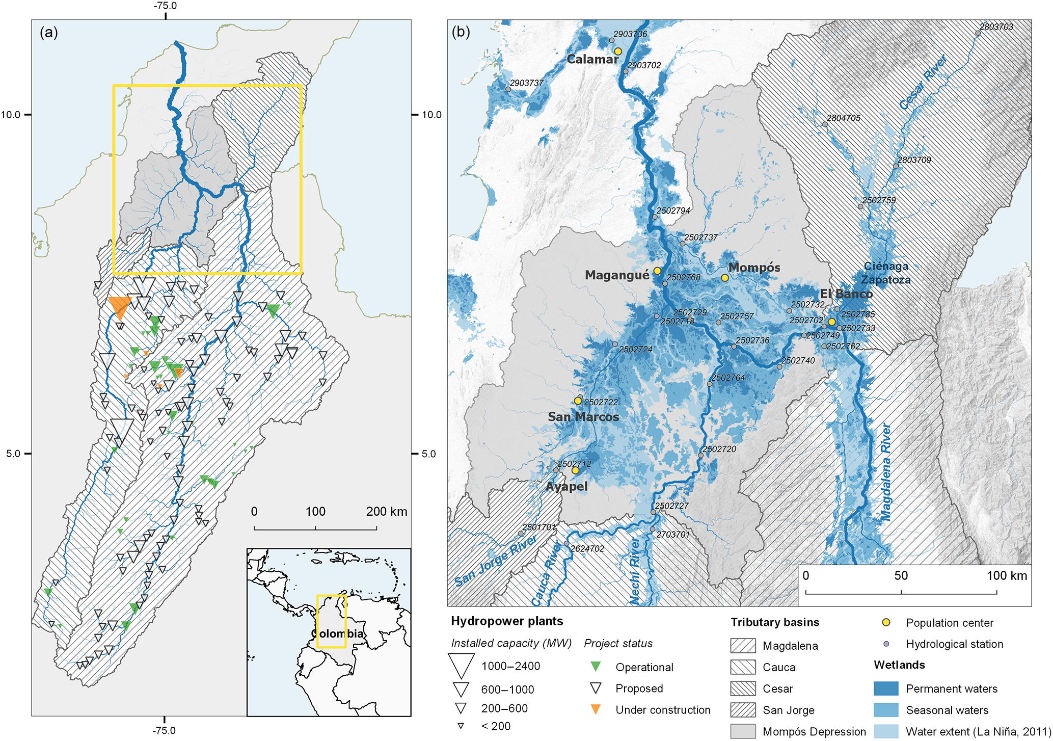 HESS - Basin-scale impacts of hydropower development on the Mompós