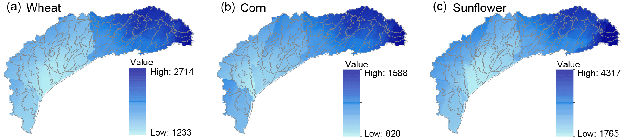 HESS - An improved method for calculating the regional crop