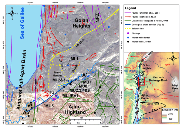 HESS - Faulting patterns in the Lower Yarmouk Gorge